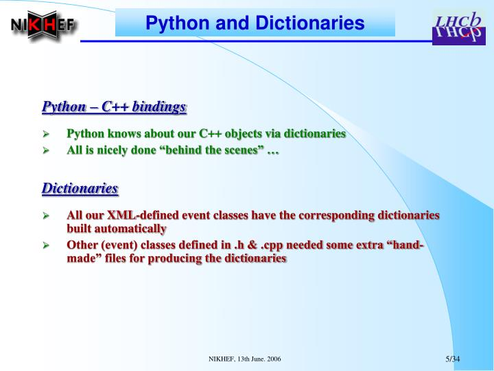 Python and Dictionaries