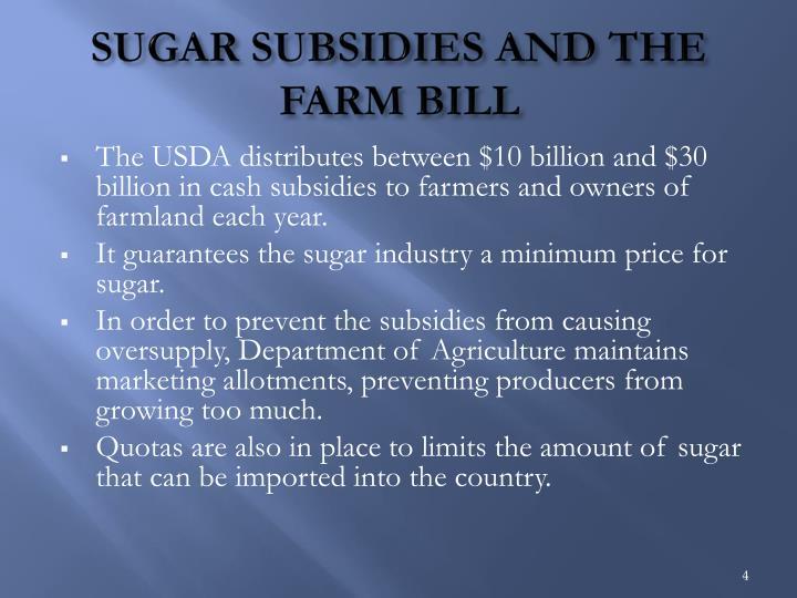 SUGAR SUBSIDIES AND THE FARM BILL