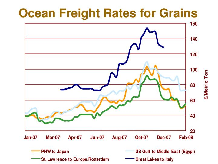 Ocean Freight Rates for Grains