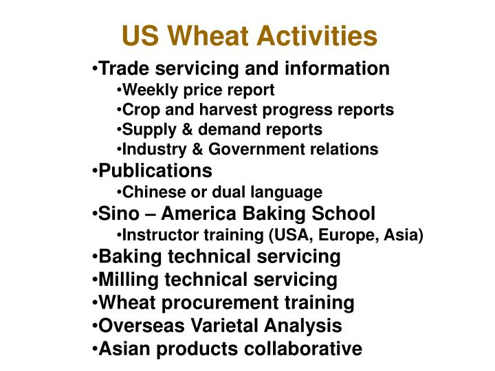 US Wheat Activities