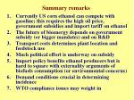 summary remarks