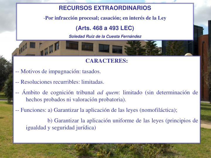 RECURSOS EXTRAORDINARIOS