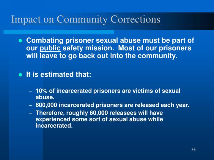 Impact on Community Corrections