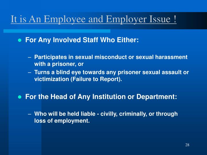 It is An Employee and Employer Issue !