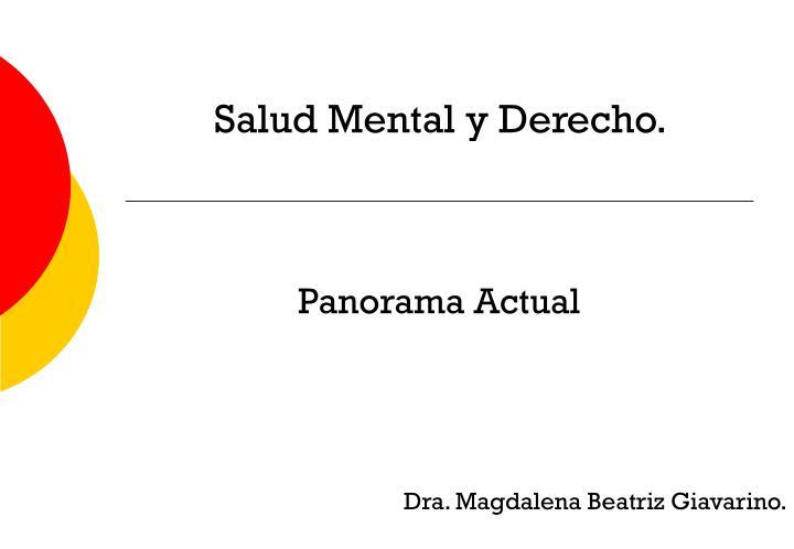 Salud Mental y Derecho.