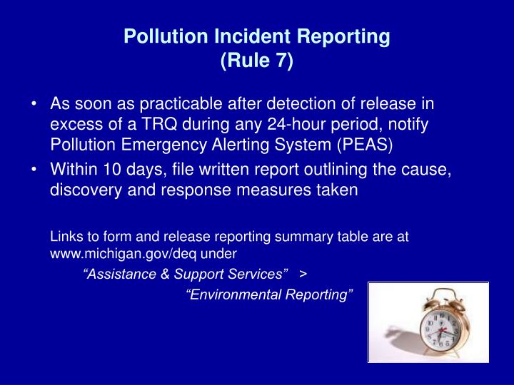 Pollution Incident Reporting