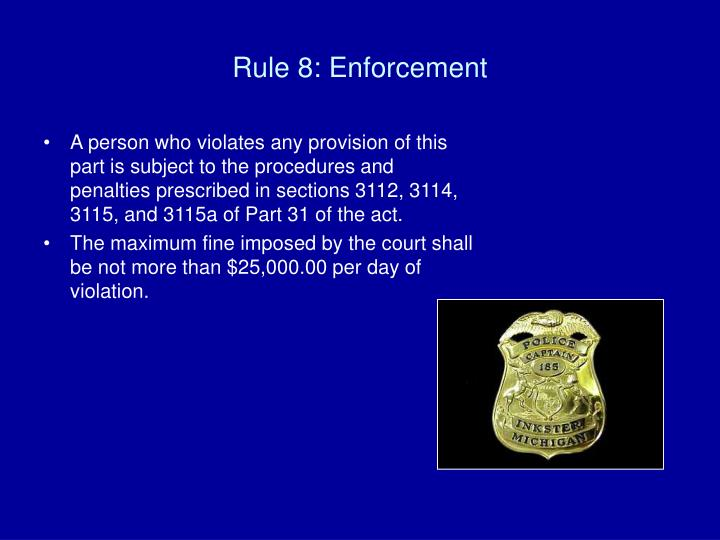 Rule 8: Enforcement