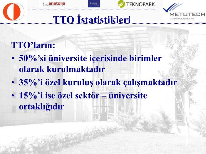 TTO İstatistikleri
