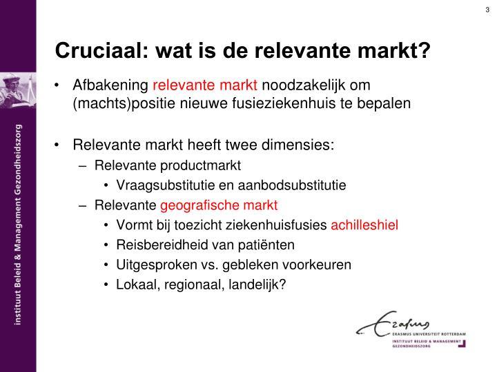 Cruciaal: wat is de relevante markt?