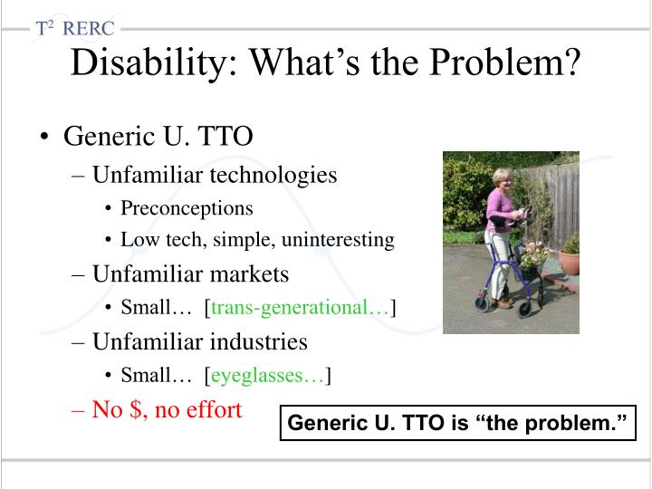 Disability: What's the Problem?