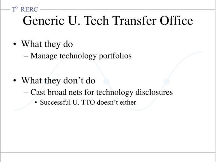 Generic U. Tech Transfer Office