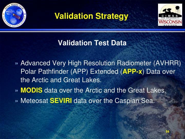 Validation Test Data