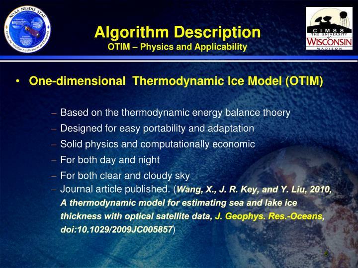 One-dimensional  Thermodynamic Ice Model (OTIM)