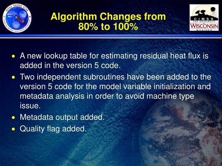 Algorithm Changes from