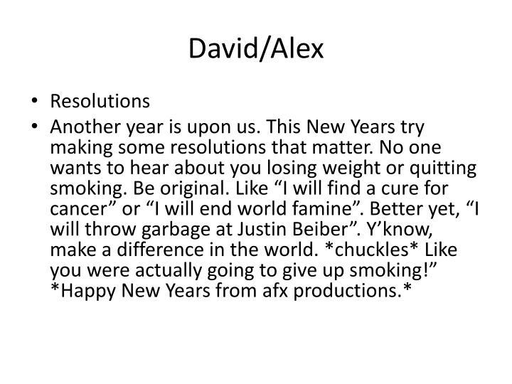 David/Alex