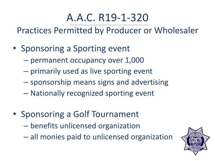 A.A.C. R19-1-320