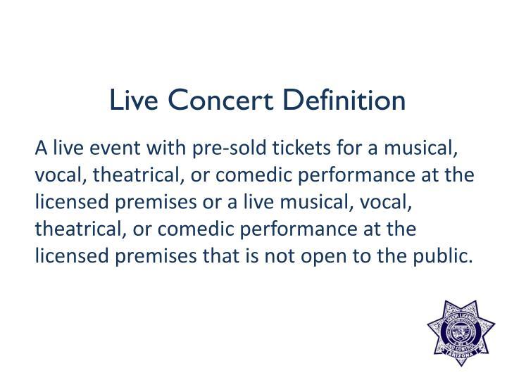 Live Concert Definition