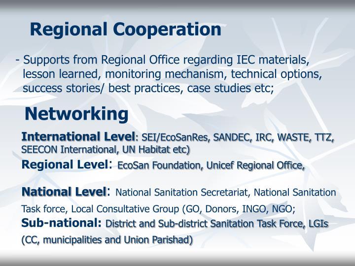 Regional Cooperation