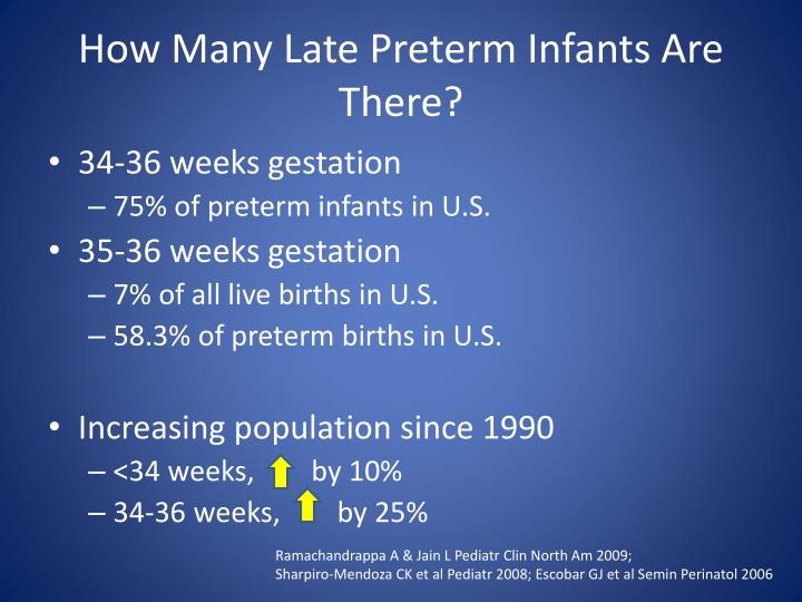 How Many Late Preterm Infants Are There?
