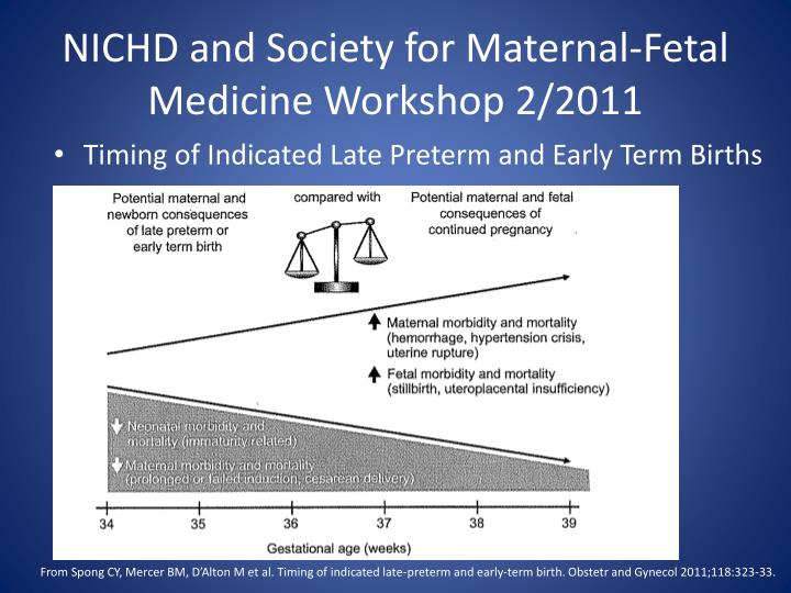 NICHD and Society for Maternal-Fetal Medicine Workshop 2/2011