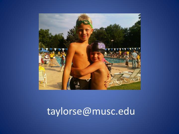 taylorse@musc.edu