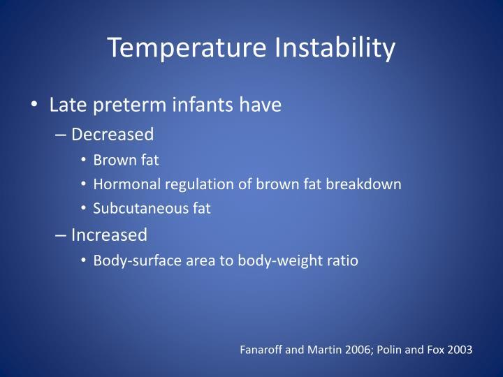 Temperature Instability