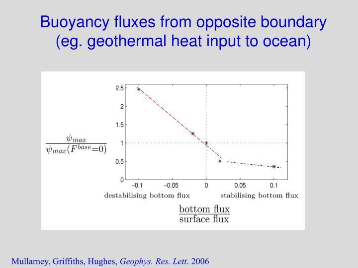 Buoyancy fluxes from opposite boundary