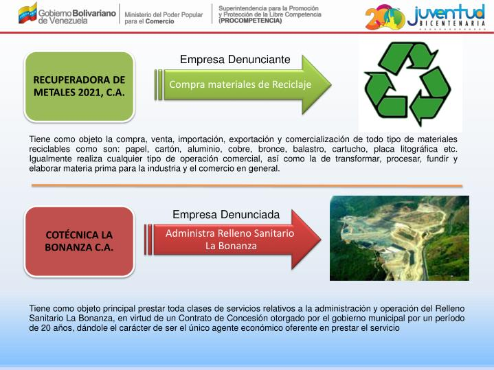 RECUPERADORA DE METALES 2021, C.A.