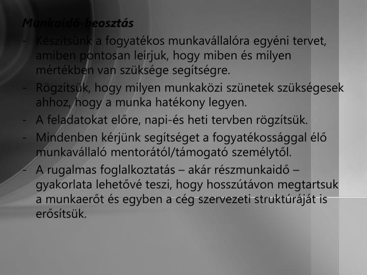 Munkaid-beoszts