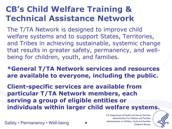 CB's Child Welfare Training & Technical Assistance Network
