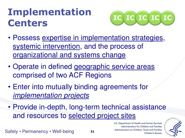 Implementation Centers