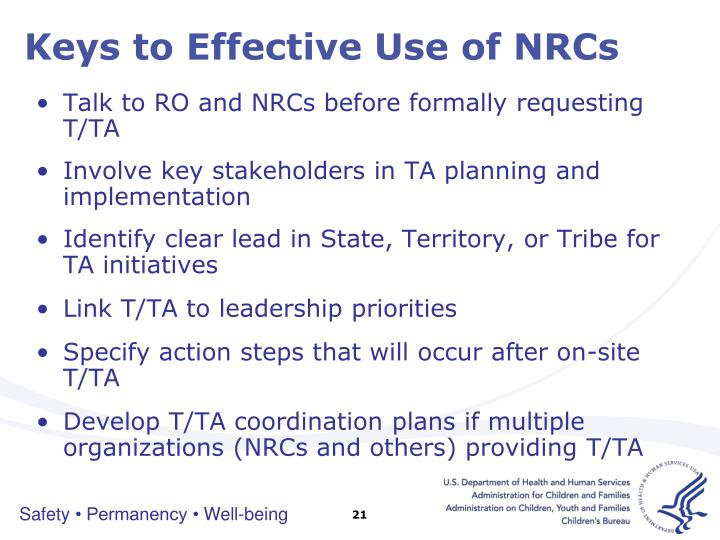 Keys to Effective Use of NRCs