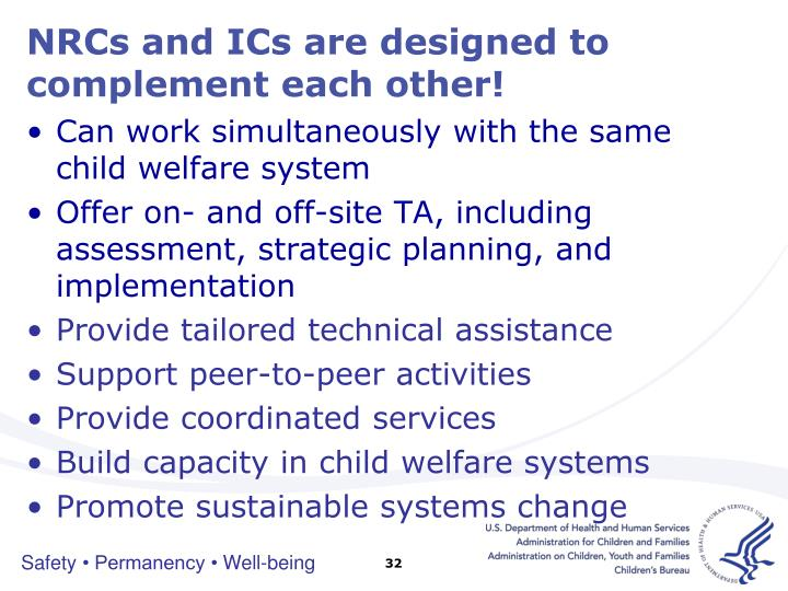 NRCs and ICs are designed to complement each other!