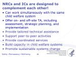nrcs and ics are designed to complement each other