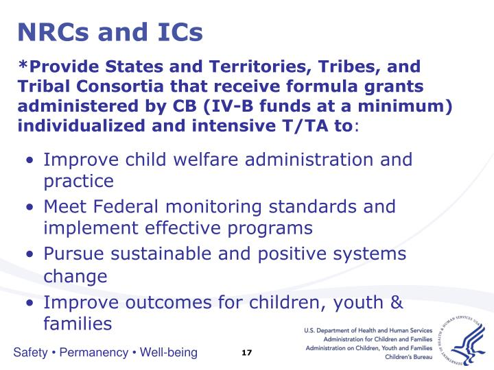 NRCs and ICs