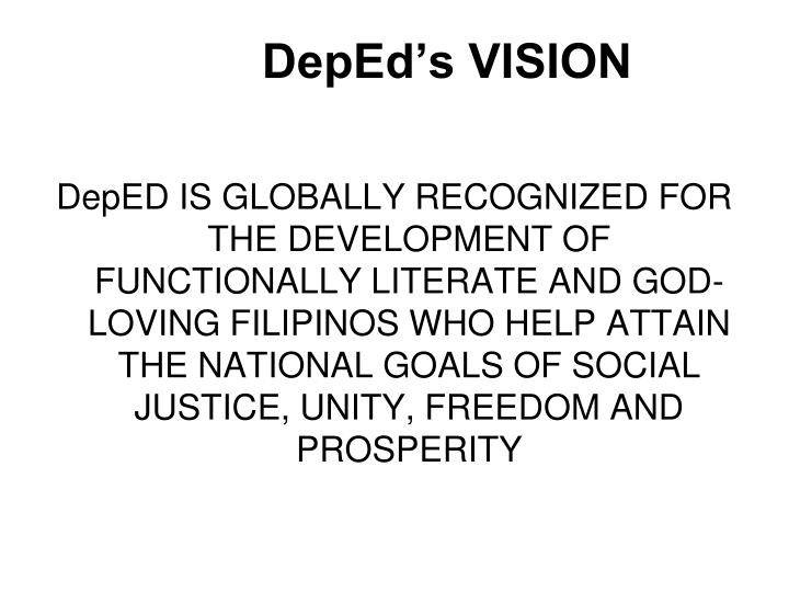 Deped s vision
