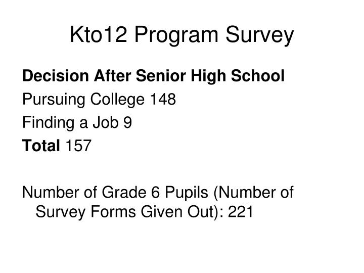 Kto12 Program Survey