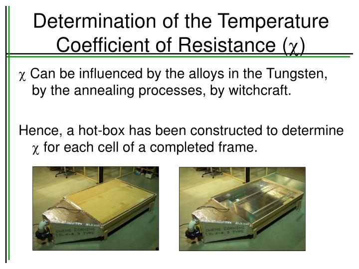 Determination of the Temperature Coefficient of Resistance (