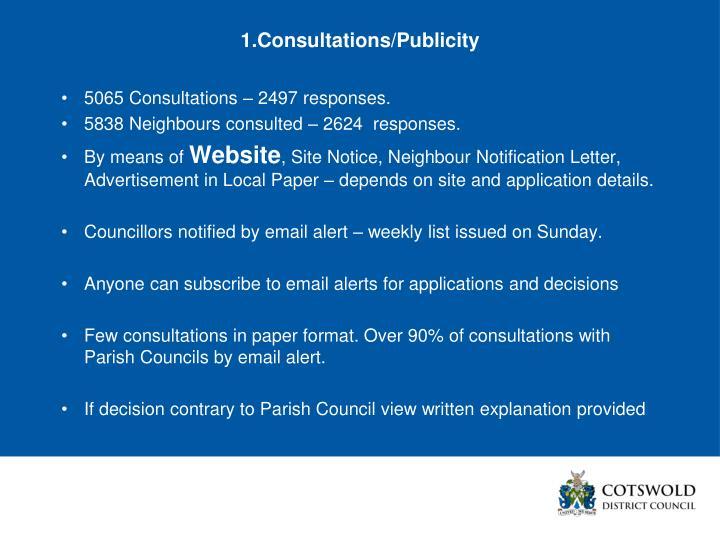1.Consultations/Publicity