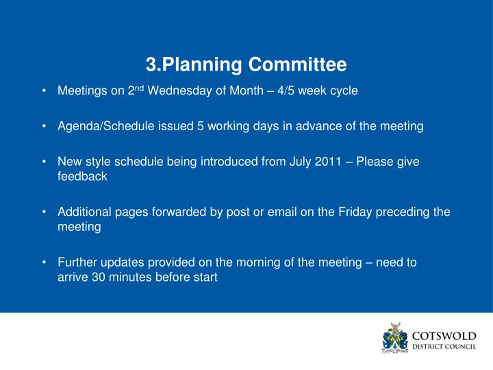 3.Planning Committee