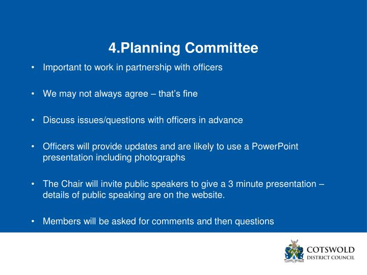 4.Planning Committee