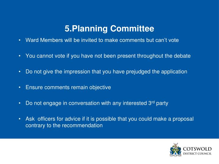 5.Planning Committee