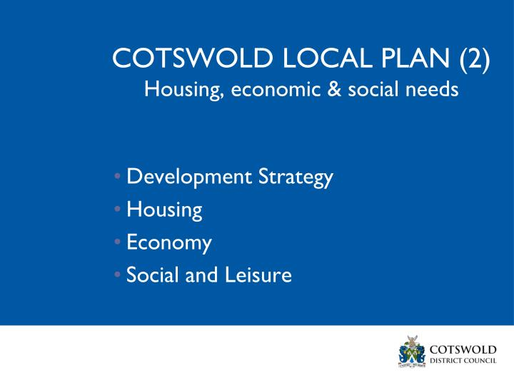 COTSWOLD LOCAL PLAN (2)