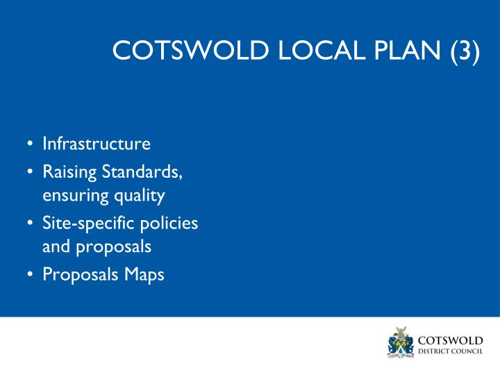 COTSWOLD LOCAL PLAN (3)