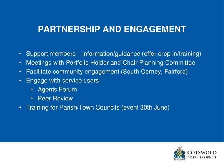 PARTNERSHIP AND ENGAGEMENT