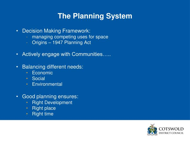 The Planning System