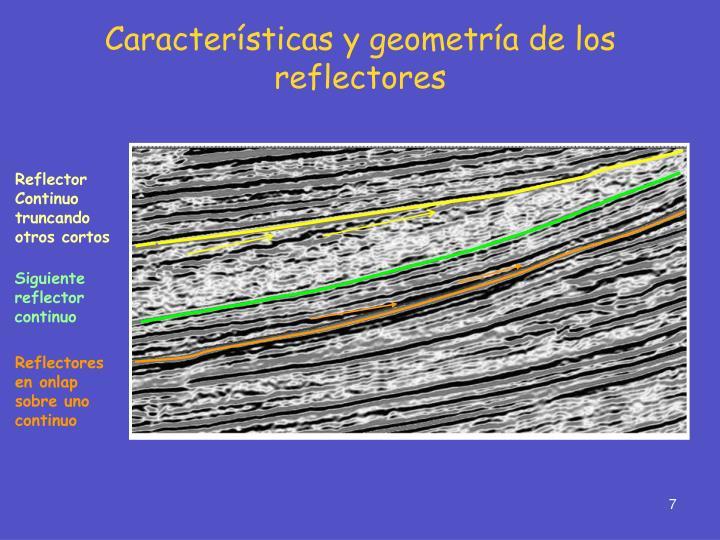 Características y geometría de los reflectores