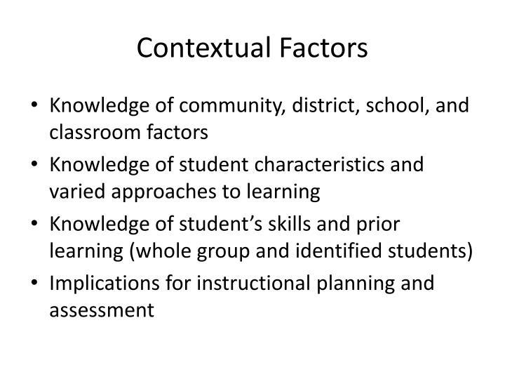 Contextual Factors