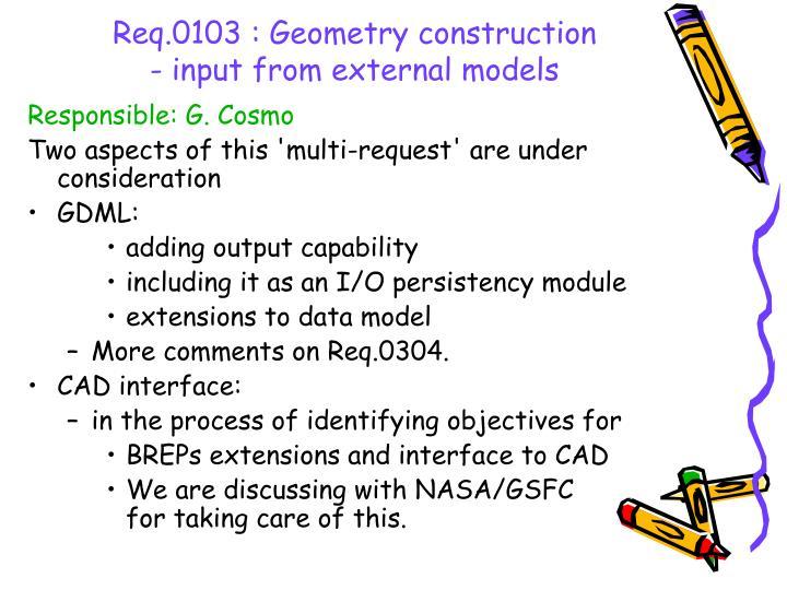 Req.0103 : Geometry construction