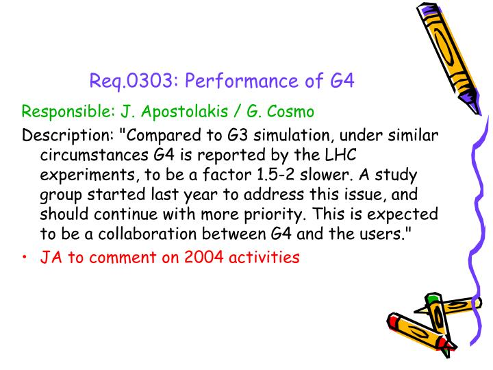 Req.0303: Performance of G4